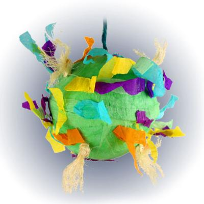 Paper Mache Party Ball 4 Inch Bird Toy
