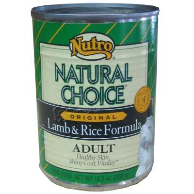 Nutro Natural Choice Original lamb & Rice Can Each