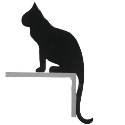 Silhouette Cat Sitting Door or Window Frame Ornament