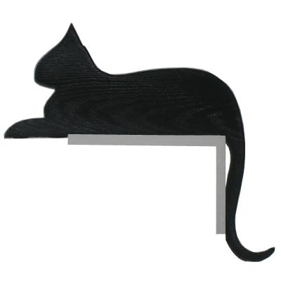 Silhouette Cat Resting Door or Window Frame Ornament