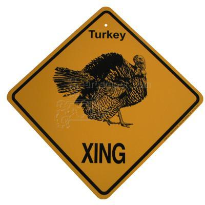 Xing Sign Turkey Plastic 10.5 x 10.5 inches