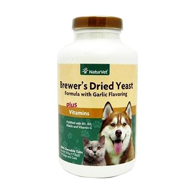 Brewers Yeast/Garlic 1000-Tab NaturVet Cat/Dog Supplement