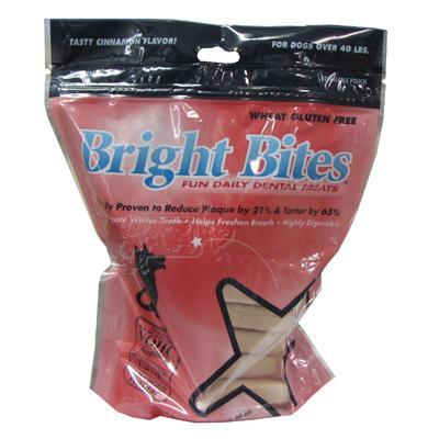 Bright Bites Large Cinnamon 20oz bag Dog Dental Treat