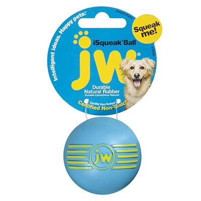 iSqueak Natural Rubber Ball Small Dog Toy