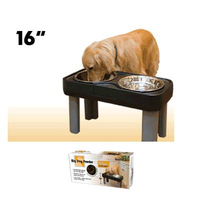 Big Dog Elevated Feeder 16-inch Height Black