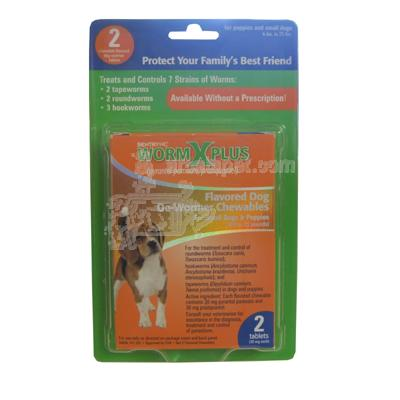 WormX Plus For Small Dogs & Puppies 2pk