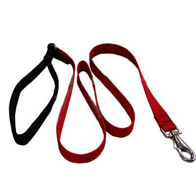 Lupine Nylon Dog Leash 4-foot x 1-inch Red