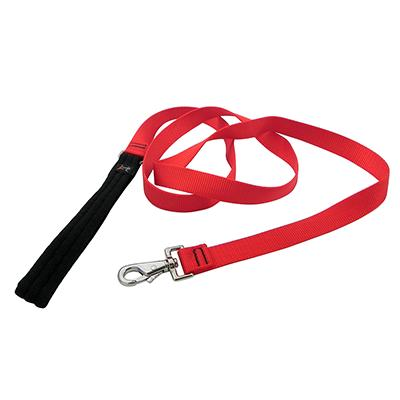 Lupine Nylon Dog Leash 6-foot x 1-inch Red
