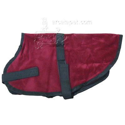 Pet Sense Doggie Coat Burgundy Small Long