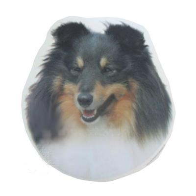 Double Sided Dog Decal Shetland Tri-color
