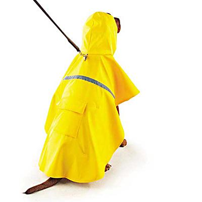 Rain Jacket for Dogs Yellow Medium