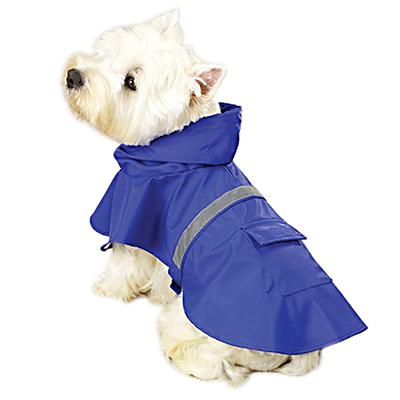Rain Jacket for Dogs Blue Medium