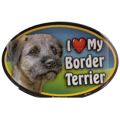 Dog Breed Image Magnet Oval Border Terrier