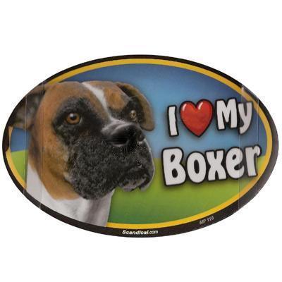 Dog Breed Image Magnet Oval Boxer