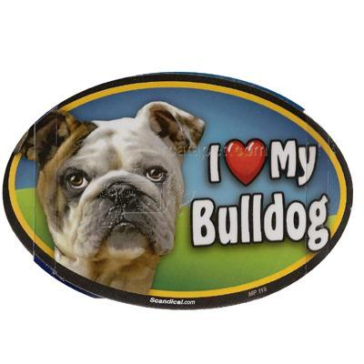 Dog Breed Image Magnet Oval Bulldog