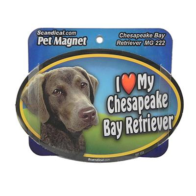 Dog Breed Image Magnet Oval Chesapeake Bay Retriever