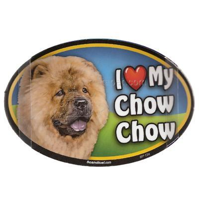 Dog Breed Image Magnet Oval Chow Chow