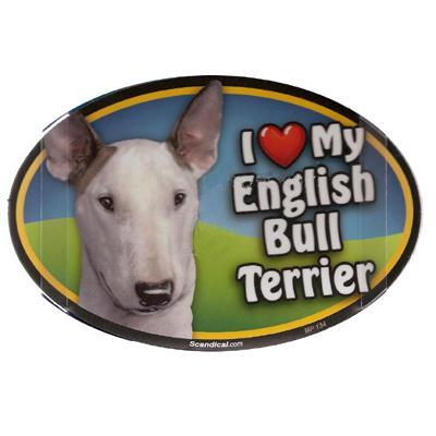 Dog Breed Image Magnet Oval English Bull Terrier