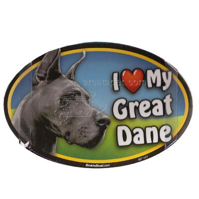 Dog Breed Image Magnet Oval Great Dane
