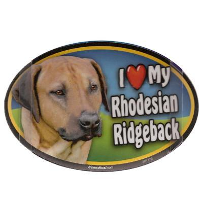 Dog Breed Image Magnet Oval Rhodesian Ridgeback