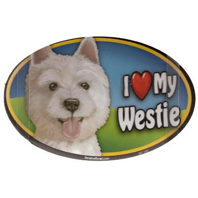 Dog Breed Image Magnet Oval Westie