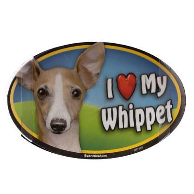Dog Breed Image Magnet Oval Whippet