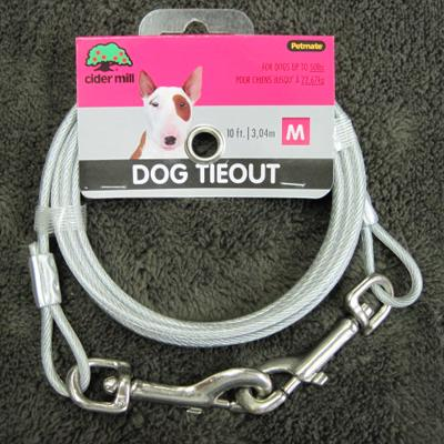 Cider Mill Cable 10 foot Medium Dog Tie-out