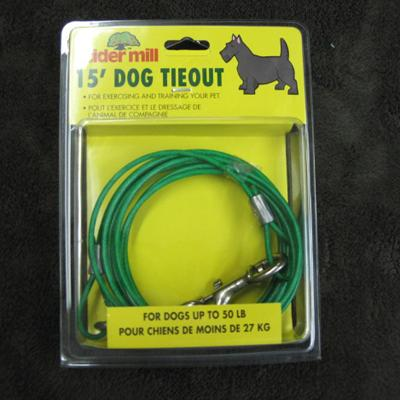 Cider Mill Cable 15 foot Medium Dog Tie-out