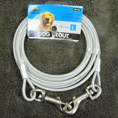 Cider Mill Cable 15 foot Large Dog Tie-out