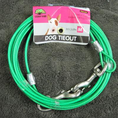 Cider Mill Cable 20 foot Medium Dog Tie-out