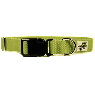 Bamboo Dog Collar Small in Zen Green