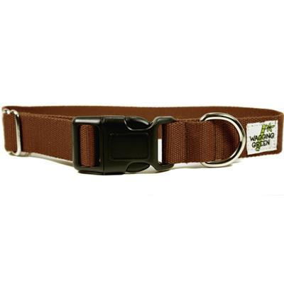 Bamboo Dog Collar Small in Tree Bark Brown