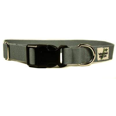 Bamboo Dog Collar Medium in Pebble Gray