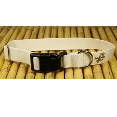 Bamboo Dog Collar Medium in Natural Color