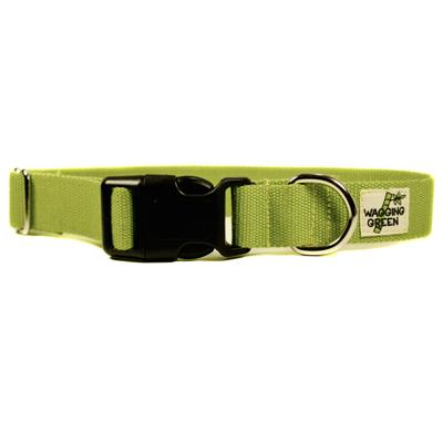 Bamboo Dog Collar Large in Zen Green