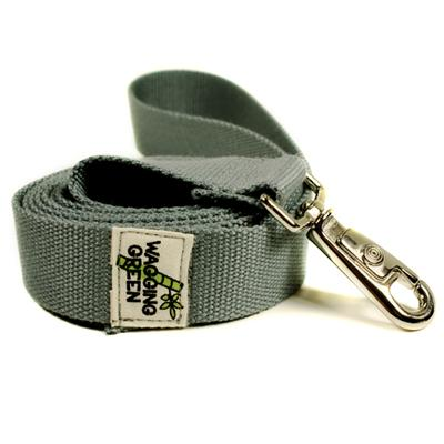 Bamboo Dog Leash 1-inch x 5-feet Pebble Gray