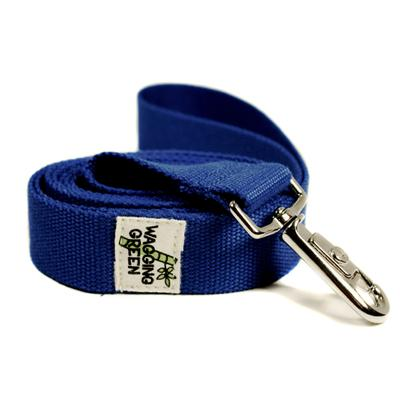 Bamboo Dog Leash 1-inch x 5-feet Twilight Blue