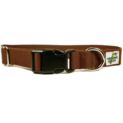 Bamboo Dog Collar Large in Tree Bark Brown