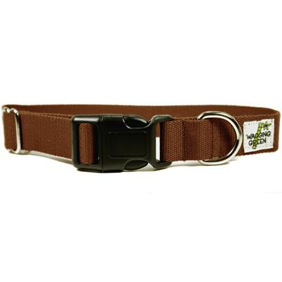Bamboo Dog Collar Medium in Tree Bark Brown