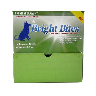 Bright Bites Spearmint Large Case Dog Dental Treat