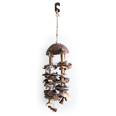 Living World Coco Shell Chime Small-Medium Bird Toy