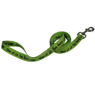 Printed Dog Leash 5-foot x 1inch One of us Has Hairy Legs
