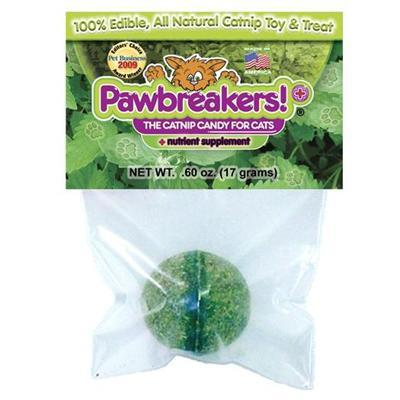 Pawbreakers Plus! All-Natural Catnip Edible Ball Cat Treat