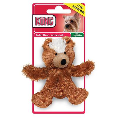 Kong Low Stuffing Teddie Bear XSmall Dog Toy
