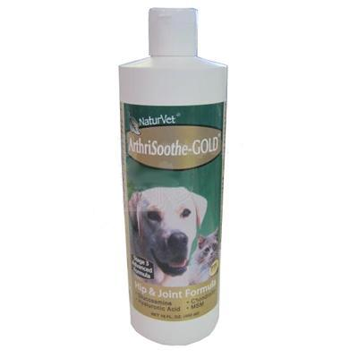 NaturVet Arthrisoothe Gold Liquid 16oz Dog Joint Supplement