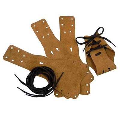 Australian-Style Suede Leather Dog Boots 4-pack