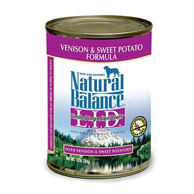 Natural Balance Venison Sweet Potato Canned Dog Food case