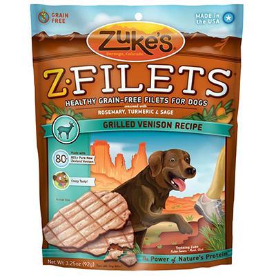 Zuke's Z-Filets Prime Venison 3.25 oz Dog Treat