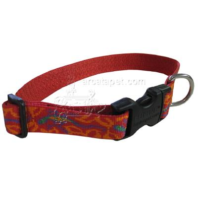 Dog Collar Adjustable Nylon Go Go Gecko Lupine 16-28