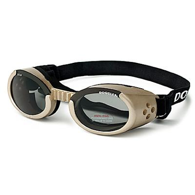 Doggles Eyeware for Dogs Chrome Frame / Smoke Lens Small